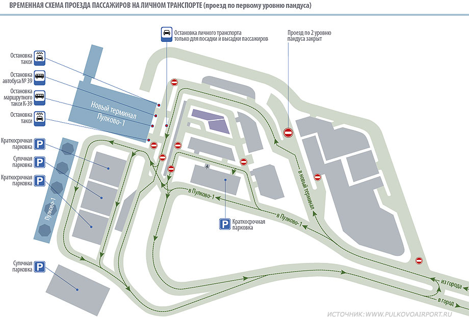 План-схема аэропорта Пулково